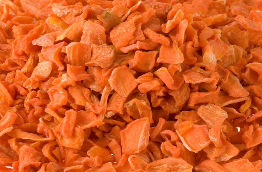 Getrocknetes Gemüse Tierfutter