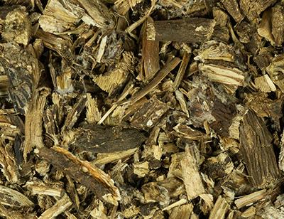 Burdock root cut